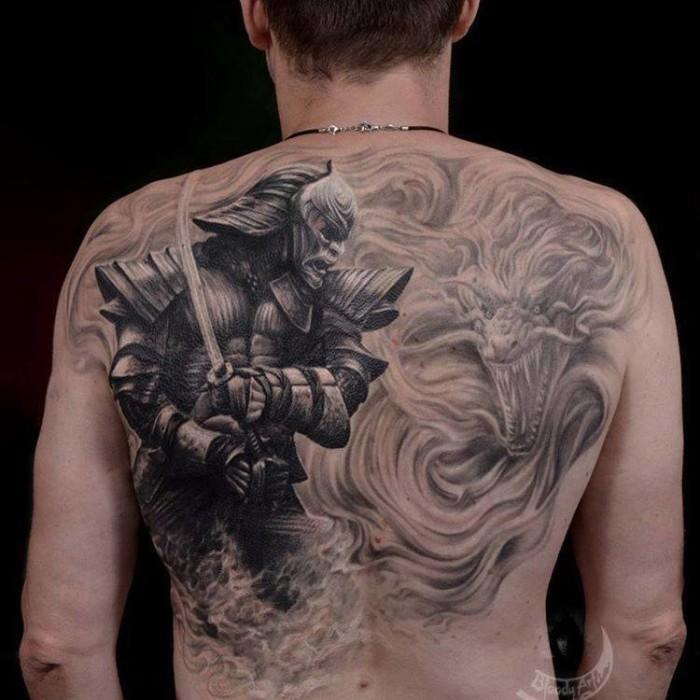 картинки тату на всю спину эффекты