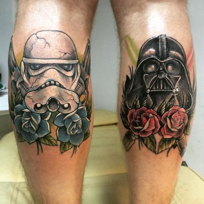 Татуировка на голени